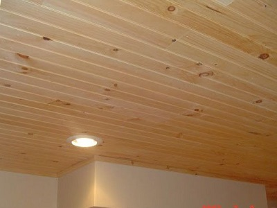 knotty pine ceiling types